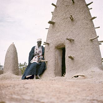 Marabout - Portrait of a marabout in Upper Volta (modern Burkina Faso) around 1970