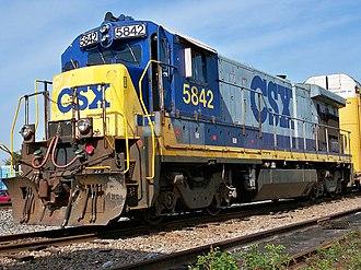 GE B36-7 - CSXT 5842, a GE B36-7