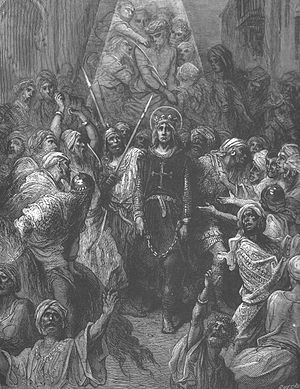 Seventh Crusade - Louis IX being taken prisoner at the Battle of Fariskur (Gustave Doré)