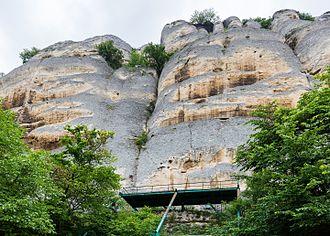 Madara Rider - A wider view of the rock with Madara Rider.