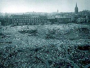 Musée des Beaux-Arts de Caen - The site of the museum after 1944.