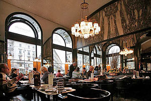Viennese coffee house - Café Schwarzenberg in Vienna