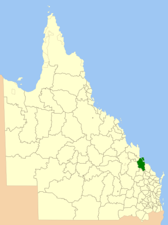 Shire of Calliope - Location within Queensland