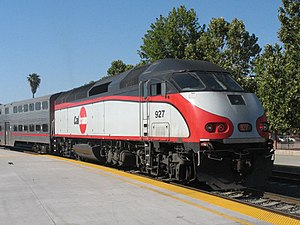 MPI MPXpress - An MP36PH-3C in Caltrain livery. Nine railroads operate this model, with Caltrain being the launch customer.
