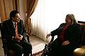Canciller Falconí recibe en su despacho a la embajadora de Gran Bretaña, Linda Mary Cross (4029646486).jpg