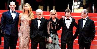 Eisenberg with the cast of Café Society at the 2016 Cannes Film Festival