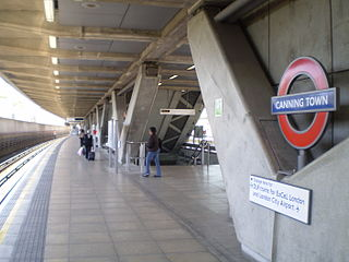 Canning Town station London Underground and Docklands Light Railway station