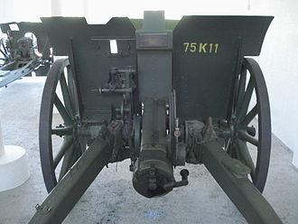 Cannone da 75/27 modello 11 - Rear view.