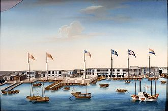 Robert Morrison (missionary) - Painting of the Thirteen Factories, c. 1805
