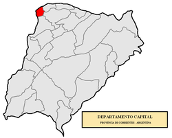 location of Capital Department in Corrientes Province