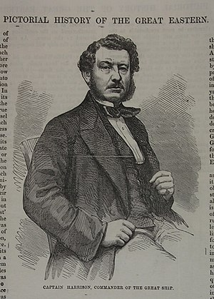 William Harrison (merchant navy officer) - Print of Captain Harrison, in the collection of The Mariners' Museum