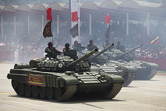 National Bolivarian Armed Forces of Venezuela - T-72B1Vs of the Venezuelan Army during a commemoration parade of Hugo Chávez in 2014