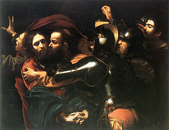 Arrest of Jesus - The Taking of Christ by Caravaggio, 1602.