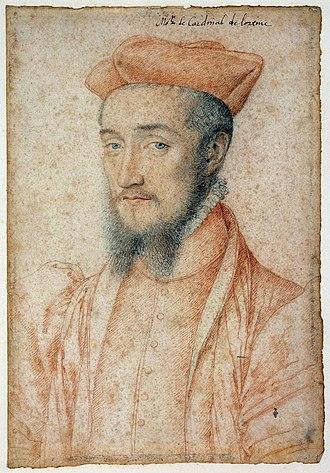 Charles, Cardinal of Lorraine - Charles, cardinal de Lorraine (1550) by François Clouet