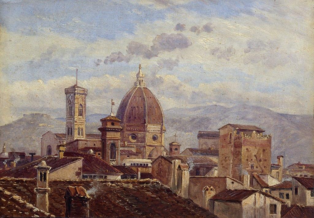 Carl Gustav Carus - Blick auf Florenz