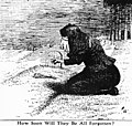 """Cartoon refers to the Triangle fire and depicts a woman weeping over a grave, and asks the reader """"How soon will they be all forgotten?"""" (5279750848).jpg"""