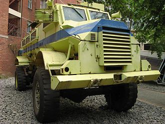 South African Police - The Casspir, an armoured personnel carrier used by the SAP.