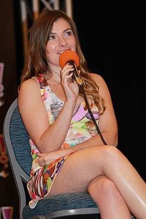 Casual - US writer Cassandra Lee Morris wearing a casual minidress during a public interaction