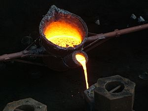 Cast iron melting