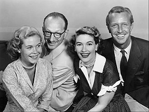 Vaughn Taylor (actor) - Ensemble cast of Robert Montgomery Presents (from left): Elizabeth Montgomery, Vaughn Taylor, Margaret Hayes and John Newland