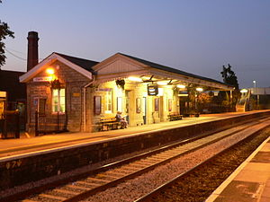 Castle Cary railway station - Platform one buildings