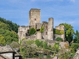 Le château de Belcastel (Occitanie). (définition réelle 4959×3734)