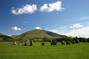 Castlerigg stone circle - The Circle with Blencathra in the background