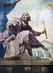 Cathédrale Saint-Étienne de Toulouse - Salomon tenant le plan de Jérusalem par Despax PM31000747