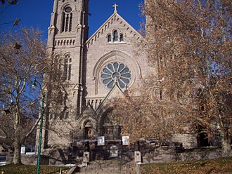 Cathedral of the Madeleine (Salt Lake City, Utah) - Cathedral of the Madeleine as seen from the front