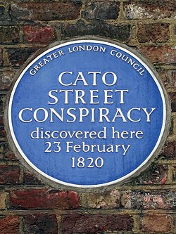 Cato street conspiracy discovered here 23 february 1820