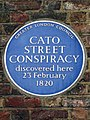 Cato Street Conspiracy discovered here 23 February 1820.jpg