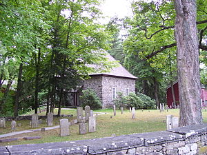 Walloon church - Reconstructed Walloon church in New Paltz, New York, in what was once part of New Netherland.