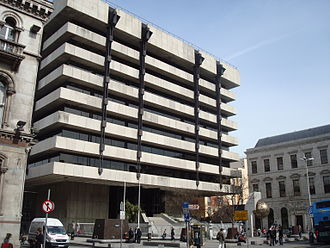 Central Bank of Ireland - The former Central Bank of Ireland headquarters building on Dame Street, Dublin City.