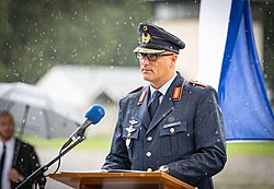 Ceremony at Dachau concentration camp after Memory for the Future Flyby.jpg