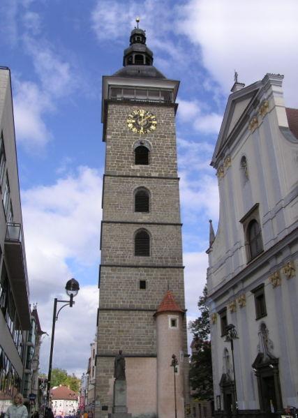 Der schwarze Turm in Budweis