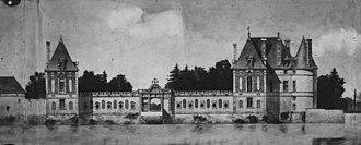 Château de Selles-sur-Cher - Sketch by Pierre Chauvallon during 1913 renovation