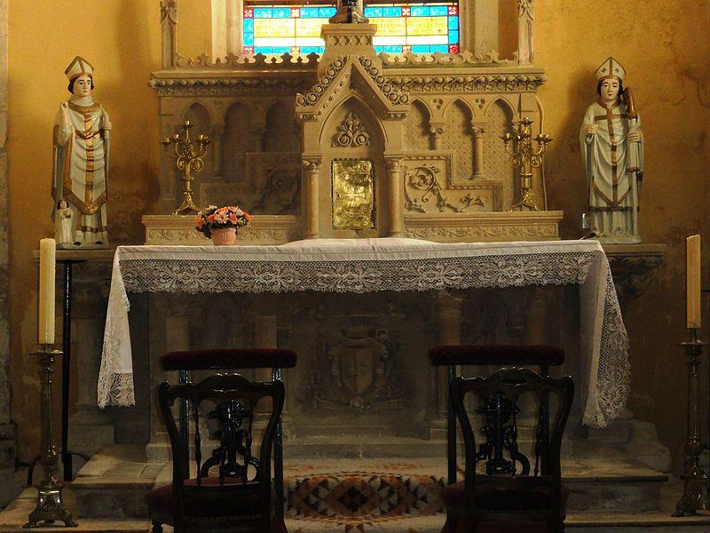 Chamouilley (Haute-Marne) église, autel