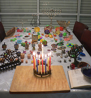 Hanukkah - Hanukkah table