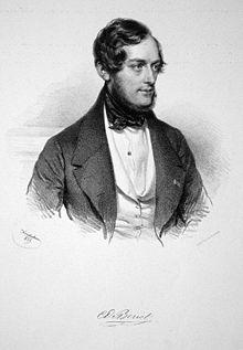 Charles-Auguste de Bériot, Lithographie von Joseph Kriehuber, 1839 (Quelle: Wikimedia)