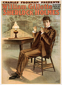 Charles Frohman presents William Gillette in his new four act drama, Sherlock Holmes (LOC var 1364) (edit).jpg