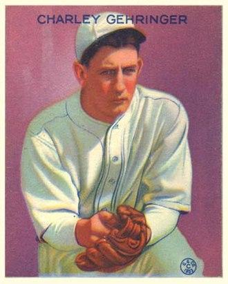 Charlie Gehringer - 1933 Goudey baseball card
