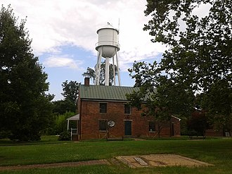 National Register of Historic Places listings in Charlotte County, Virginia - Image: Charlotte Courthouse HD old lawyers office building and water tower