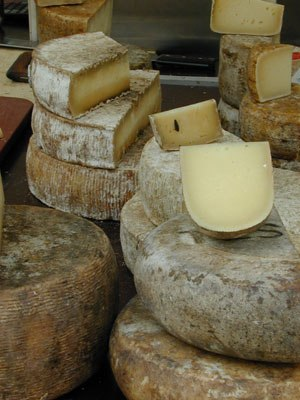 Cheese - Cheese on market stand in Basel, Switzerland