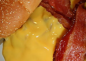 Velveeta - A bacon cheeseburger with melted Velveeta