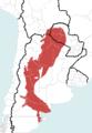 Chelonoidis chilensis geographic range.png