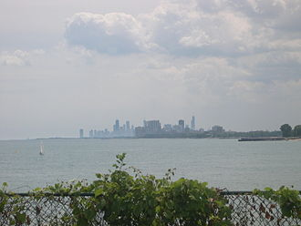 North Shore (Chicago) - Chicago, as seen from the campus of Northwestern University in Evanston.