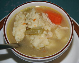 "Nicoll's Cafe's version of the Rock Creek Cafe's ""world-famous"" chicken and dumpling soup"