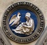 Chiesa delle carceri, int., fregio andrea della robbia, san giovanni 2.jpg