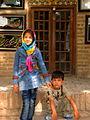 Children in Ribat-i-Abbasi of Nishapur (Hossein - Ali - Fatemeh - Hengameh and another girl - probably Afghani) 21.jpg