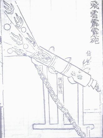 History of the Ming dynasty - A cannon from the Huolongjing, compiled by Jiao Yu and Liu Bowen before the latter's death in 1375.